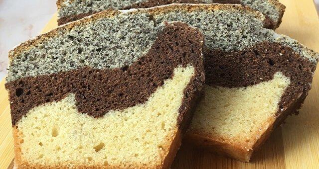 ciasto babka w trzech smakach