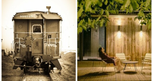 przerobiony dom z wagonu