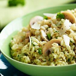 Przepis na risotto z pieczarkami. To danie wygląda i smakuje  obłędnie, a jest bardzo proste