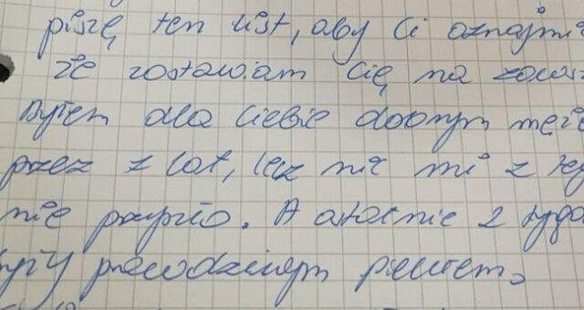 list do żony