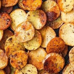 Przepis na niesamowicie smaczne, piękne i bardzo chrupiące ziemniaczki z patelni