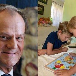 Donald Tusk w troskliwej roli dziadka