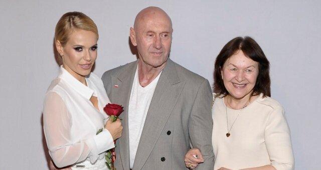 Dorota Rabczewska z rodzicami